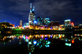 October Nighttime and Evening Views Of Nashville TN